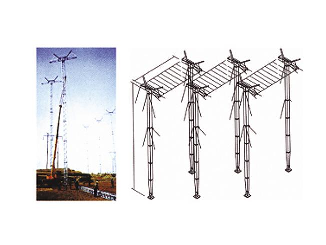 铝合金六柱式带电跨越架