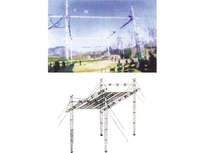 铝合金四柱式带电跨越架