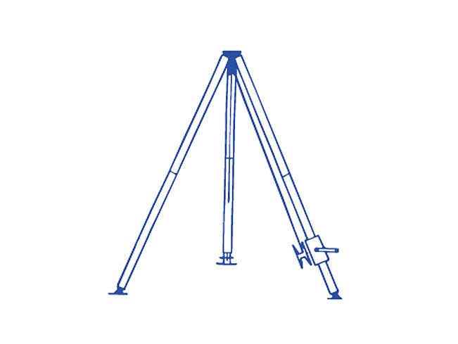 铝合金圆管式三脚抱杆