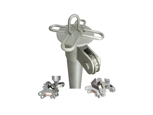 铝合金圆管式塔头小抱杆
